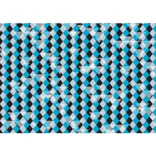 Fototapete Illustrationen Tapete Abstrakt Rechtecke klein Dreiecke Formen bunt Muster Illustrationen blau   no. 395