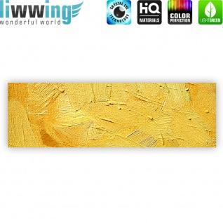 Leinwandbild Wall of yellow shades Wand Spachtel Hintergrund farbige Wand gelb   no. 107 - Vorschau 4