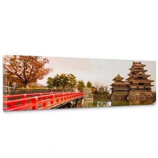 Leinwandbild Japan Brücke Wasser Ruhe Romantisch | no. 263
