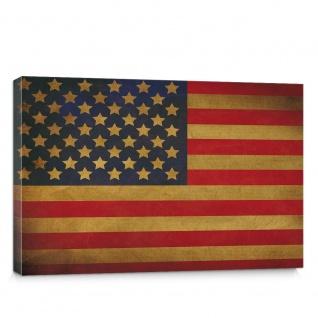 Leinwandbild Star Spangled Banner Flagge USA Amerika | no. 3451 - Vorschau 1