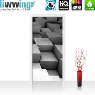 Türtapete - Abstrakt Würfel 3D   no. 765 - Vorschau 2