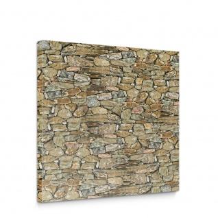 Leinwandbild Steinmauer Steine Mosaik | no. 1967