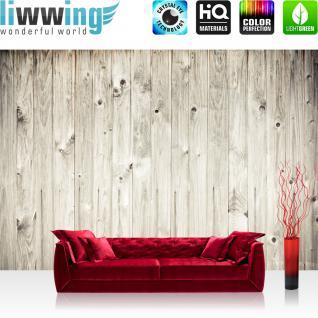 liwwing Vlies Fototapete 400x280 cm PREMIUM PLUS Wand Foto Tapete Wand Bild Vliestapete - WEATHERED WOOD PLANK - Holzoptik Holzwand HolzPanel weißes Holz altes Holz - no. 091