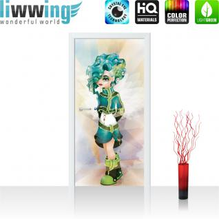 liwwing Türtapete selbstklebend 91x211 cm PREMIUM PLUS Tür Fototapete Türposter Türpanel Foto Tapete Bild - Kindertapete Cartoon Mode Style - no. 1095