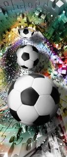 Türtapete - Abstrakt Fußball Rechteck   no. 978 - Vorschau 5