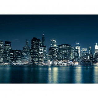 Fototapete New York Blue Night Skyline USA Tapete City Amerika Empire State Building Big Apple blau | no. 22