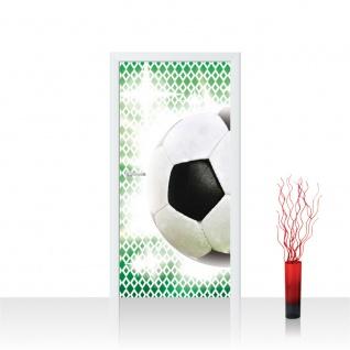 Türtapete - Fussball Ball Sterne | no. 1038