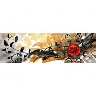 Leinwandbild Metall Flower - Ornaments Orchidee Blumen Natur Pflanzen Abstrakt   no. 102 - Vorschau 3