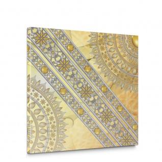 Leinwandbild Mandala Sterne Perlen | no. 3231