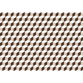 Fototapete Gemälde & Kunstwerke Tapete Geometrie 3D Wand Muster Beige | no. 4345