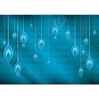 Fototapete Illustrationen Tapete Abstrakt Orient Muster vektorgrafik Illustrationen bunt blau gelb blau | no. 366
