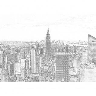 Fototapete New York Tapete Manhattan, Hudson River, Empire State Building schwarz - weiß | no. 3458