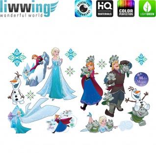 Wandsticker Disney Frozen - No. 4782 Wandtattoo Frozen Eiskönigin Schneemann Anna & Elsa Kindersticker Mädchen