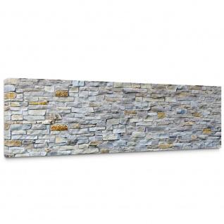Leinwandbild Steinwand Steinoptik Steine Wand Mauer Stein | no. 168