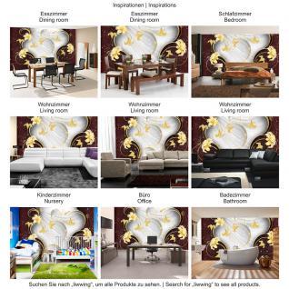 liwwing Vlies Fototapete 104x50.5cm PREMIUM PLUS Wand Foto Tapete Wand Bild Vliestapete - Ornamente Tapete Blume Ranke Streifen Blätter Kunst weiß - no. 2001 - Vorschau 5