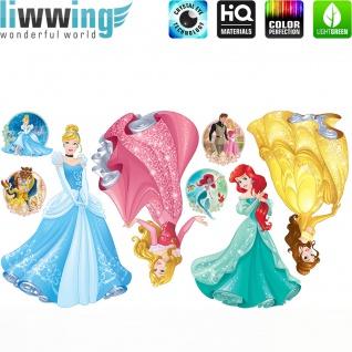 Wandsticker Disney Princesses - No. 4678 Wandtattoo Sticker Kinder Schneewitchen Arielle Cinderella Dornröschen