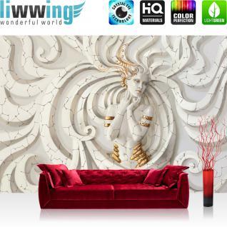 Liwwing Vlies Fototapete 350x245 Cm PREMIUM PLUS Wand Foto Tapete Wand Bild  Vliestapete   Erotik Tapete Abstrakt Frau Modell Erotik Schnörkel Antique  Weiß ...
