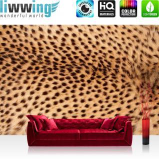 liwwing Vlies Fototapete 400x280 cm PREMIUM PLUS Wand Foto Tapete Wand Bild Vliestapete - Natur Tier Leopard - no. 181
