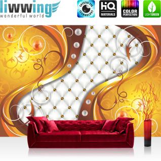 liwwing Vlies Fototapete 104x50.5cm PREMIUM PLUS Wand Foto Tapete Wand Bild Vliestapete - Illustrationen Tapete Illustration Abstrakt Ornamente gelb - no. 3151