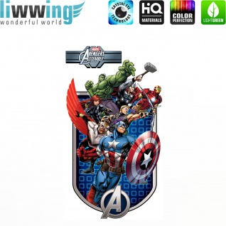 Wandsticker Marvel Avengers - No. 4649 Wandtattoo Sticker Kinderzimmer Hulk Iron Man Thor Captain America