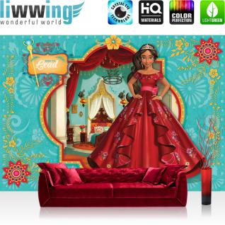 liwwing Vlies Fototapete 152.5x104cm PREMIUM PLUS Wand Foto Tapete Wand Bild Vliestapete - Kindertapete Disney - Dornröschen Tapete Prinzessin Dornröschen Blumen Palast bunt - no. 3421