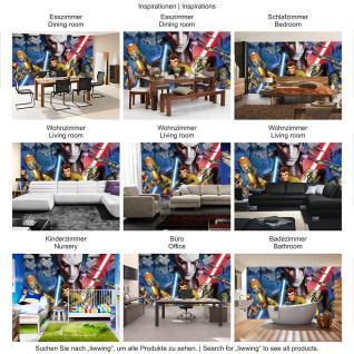 liwwing Vlies Fototapete 152.5x104cm PREMIUM PLUS Wand Foto Tapete Wand Bild Vliestapete - Kindertapete Tapete STAR WARS Rebels Laserschwerte Stormtrooper Sterne Weltall blau - no. 2096 - Vorschau 5
