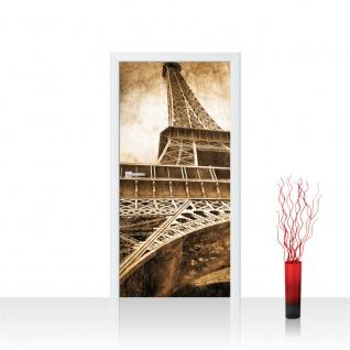 Türtapete - Eiffelturm Paris Wolken Vintage | no. 643