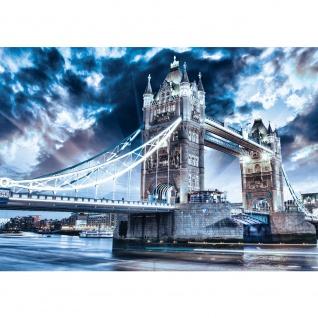 Fototapete London Tapete Tower Bridge Wasser Licht blau   no. 3062