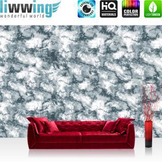 liwwing Vlies Fototapete 312x219cm PREMIUM PLUS Wand Foto Tapete Wand Bild Vliestapete - Kunst Tapete Abstrakt Kunst Matmor Design grau - no. 1681