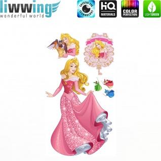 Wandsticker Disney Princesses - No. 4682 Wandtattoo Sticker Kinder Schneewitchen Arielle Cinderella Dornröschen