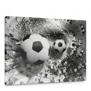 Leinwandbild Abstrakt Fußball Rechteck Puzzle Tunnel | no. 979