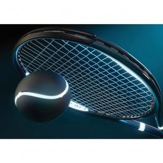 Fototapete Sport Tapete Tennis Schläger Tennisball Sport Licht Netz blau | no. 1956