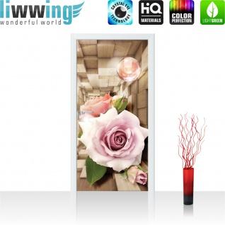 Türtapete - Abstrakt Blume Rose Rechteck | no. 972 - Vorschau 2