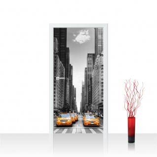 Türtapete - Manhattan Skyline Taxis City Stadt Skyscapers | no. 210