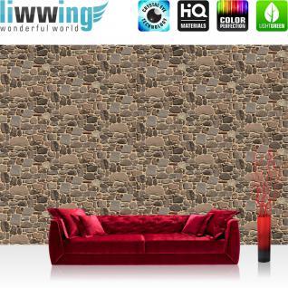 liwwing Vlies Fototapete 208x146cm PREMIUM PLUS Wand Foto Tapete Wand Bild Vliestapete - Steinwand Tapete Stein Steinwand Steinoptik Muster beige - no. 3043