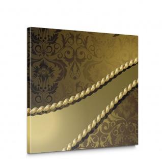 Leinwandbild Ornamente Seil Barock Gold Edel | no. 276
