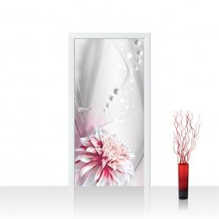 Türtapete - Abstrakt Blume Perlen | no. 971
