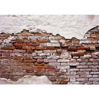 Fototapete Steinwand Tapete Backsteinmauer, Putz, rustikal, Vintage rot | no. 3258 - Vorschau 1