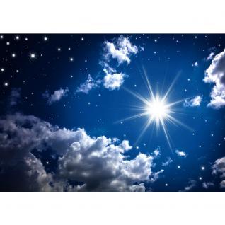 liwwing Vlies Fototapete 350x245 cm PREMIUM PLUS Wand Foto Tapete Wand Bild Vliestapete - ROMANTIC STARS - Sternenhimmel Stars Sterne Leuchtsterne Nachthimmel - no. 023 - Vorschau 2