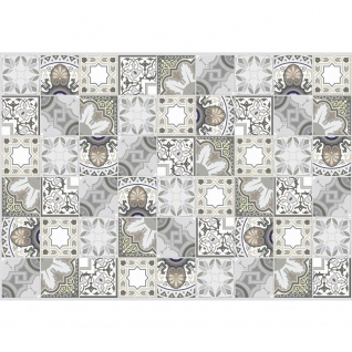 Fototapete Gemälde & Kunstwerke Tapete Abstraktion Kunst Mosaik Fliesen braun | no. 4430