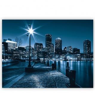 Leinwandbild Laterne Nacht New York Skyline Lichter Fluss | no. 856 - Vorschau 2