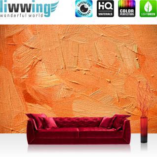 liwwing Vlies Fototapete 350x245 cm PREMIUM PLUS Wand Foto Tapete Wand Bild Vliestapete - WALL OF ORANGE SHADES - Abstrakt Hintergrund Dekoration Wand Spachtel farbige Wand orange - no. 108