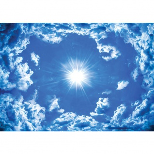 Fototapete Himmel Tapete Wolke Wolken Sonne Licht Strahlen blau | no. 2459