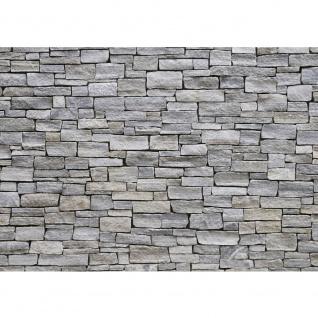 Fototapete Steinwand Tapete Steinwand Steinoptik Steine Wand Mauer Steintapete grau | no. 162