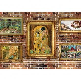 Fototapete Steinwand Tapete Steinoptik Stein Gemälde Bilder Rahmen braun | no. 2466