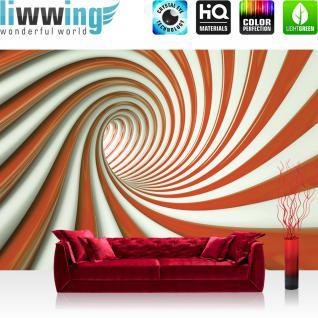 liwwing Vlies Fototapete 400x280 cm PREMIUM PLUS Wand Foto Tapete Wand Bild Vliestapete - Ornamente Tapete Pusteblume Blume Blüten Schweben Perle Wellen Rauch gelb - no. 595