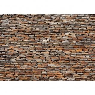 Fototapete Steinwand Tapete Steinwand Steinoptik Steine Wand Mauer Steintapete braun | no. 158