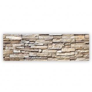 Leinwandbild Noble Stone Wall - natural Steinoptik Steinwand Stonewall Steine   no. 135 - Vorschau 2
