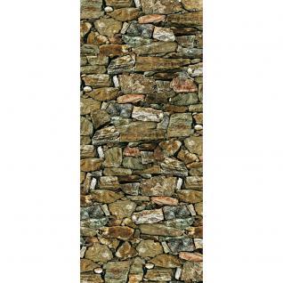liwwing Türtapete selbstklebend 91x211 cm PREMIUM PLUS Tür Fototapete Türposter Türpanel Foto Tapete Bild - Steinmauer Steinwand Steinoptik - no. 1146 - Vorschau 2