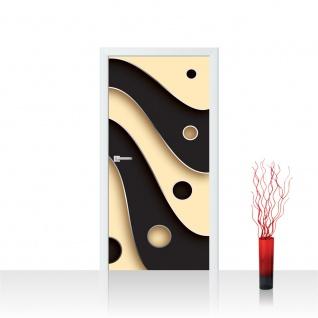 Türtapete - Abstrakt Streifen Kreise | no. 808